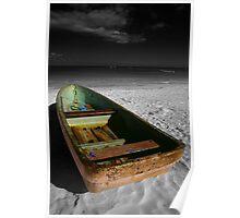 Green Paddle Boat, Playa Del Carmen, Mexico Poster