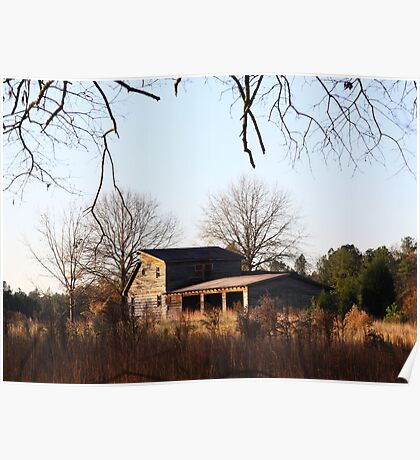 Field House In Fall Poster