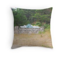 Welcome to Port Orford Throw Pillow