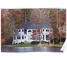 House On The Lake North Carolina Poster