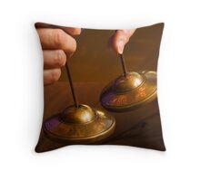 Meditation Bells Throw Pillow