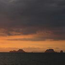 Sunset Over Islands In The Distance by vonb