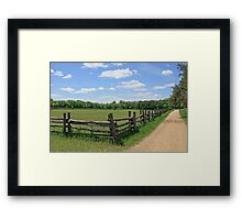 Picket Fence and Country Road Framed Print