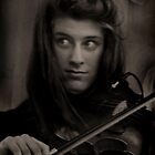 The Violinist by Andrew  Makowiecki