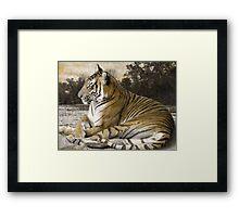 Tiger Scene Framed Print