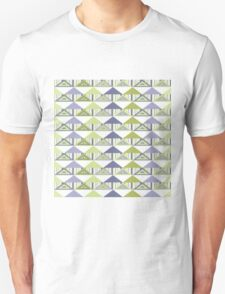 Olive Blue Triangles T-Shirt