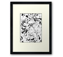 Black and White Marble Framed Print