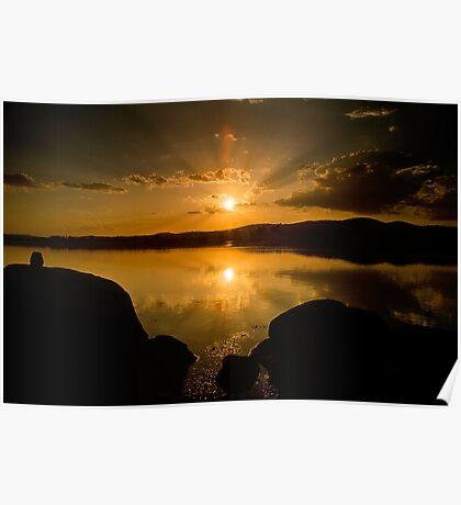 Sunset, Leslie Dam Poster