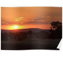 Late Spring Sunset Poster