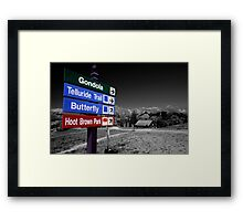 Signs of Telluride Framed Print