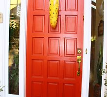 Red Door Corn Decoration by Jonathan  Green