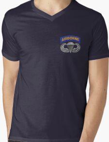 Army Parachute Wings sm Mens V-Neck T-Shirt