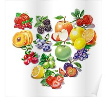 Love Fruits And Berries Poster