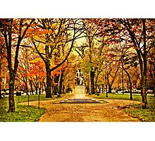 Commonwealth Ave in Boston Photographic Print