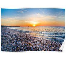 Rocks and Sky - Cedar Beach, Long Island, New York Poster