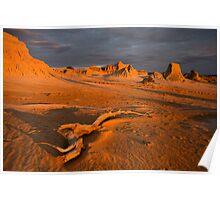 Sunset at Lake Mungo 1 Poster