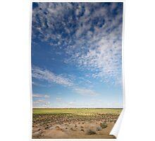 Big sky over dry lake Poster