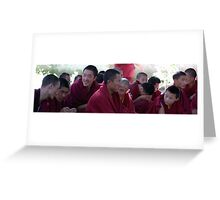 Tibetan Monk Debate Greeting Card