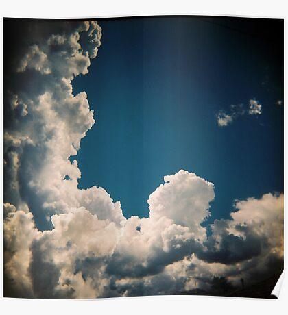 Suburban sky Poster