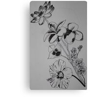 Ink Bouquet Canvas Print