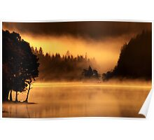 Loch Ard, morning light and mist.. Poster