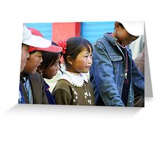 Tibetan child in wonder Greeting Card