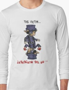 detective bottombee: the victim... or the murderer? (flip edition) Long Sleeve T-Shirt