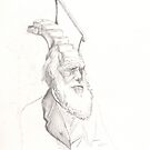 Darwin Took Steps - original sketch by Glendon Mellow