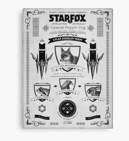 Star Fox Nintendo Vintage Poster Canvas Print