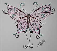 Pink Butterfly Photographic Print