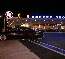 Mercury leaving Bob's Big Boy cruise night by marcoman