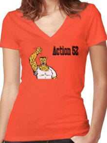 Action 52 ! Women's Fitted V-Neck T-Shirt