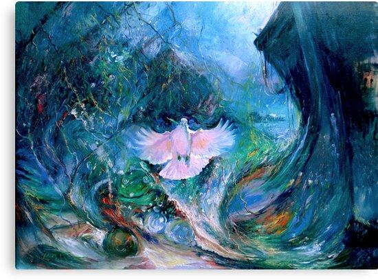 Genesis Flood Dove by Pieter  Zaadstra
