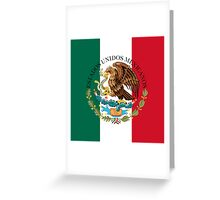 Flag of Mexico (augmented scale) with Coat of Arms (overlaid) Greeting Card