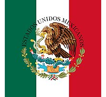 Flag of Mexico (augmented scale) with Coat of Arms (overlaid) Photographic Print