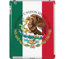 Flag of Mexico (augmented scale) with Coat of Arms (overlaid) iPad Case/Skin