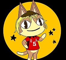 ACNL and Haikyuu Kenma Cross Over, (circle and stars) by wonnie
