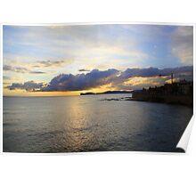 Sunset over Capo Caccia, Alghero, Sardinia (Italy)  Poster