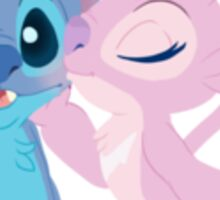 Sitch and Angel smooches Sticker