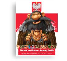 Bartek and Barta the Swamp Trolls Canvas Print
