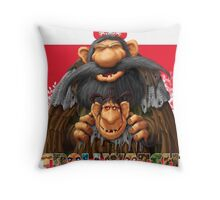 Bartek and Barta the Swamp Trolls Throw Pillow