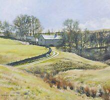 Glistening farmtrack, Hathersage by Graham Clark