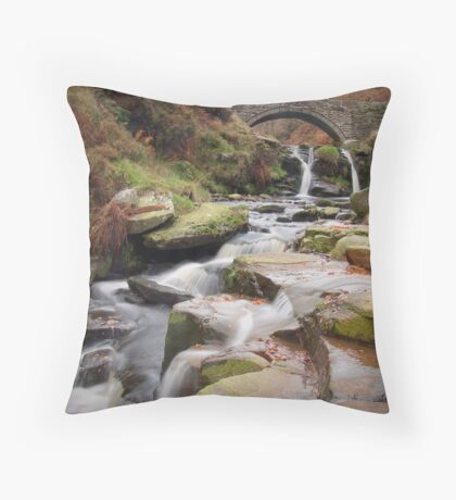 Three Shire Heads: The Peak District Throw Pillow
