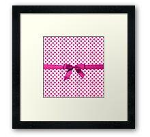 Pink Polkadot Ribbon Framed Print