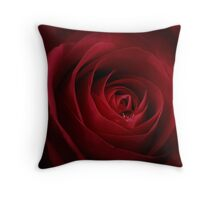 Droplet On A Rose Throw Pillow