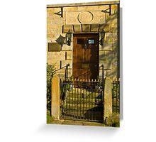The Doorway 1784 Greeting Card