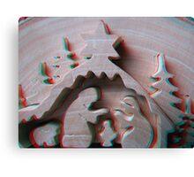 Christmas Scene 3D (Macro) Canvas Print
