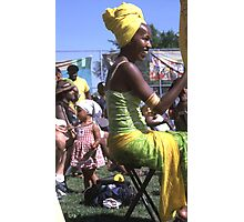 lady in yellow  Photographic Print