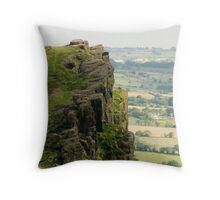 Hen Cloud, The Roaches:  The Peak District Throw Pillow