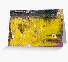 Yellow stains of history  Greeting Card